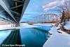 Old and New Matanuska River Bridge's outside Palmer, Alaska.<br /> HDR<br /> January 24, 2011