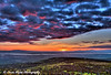 Colorful sunset over the Anchorage Bowl and Cook Inlet from the Chugach Mountains.<br /> June 17, 2011<br /> HDR