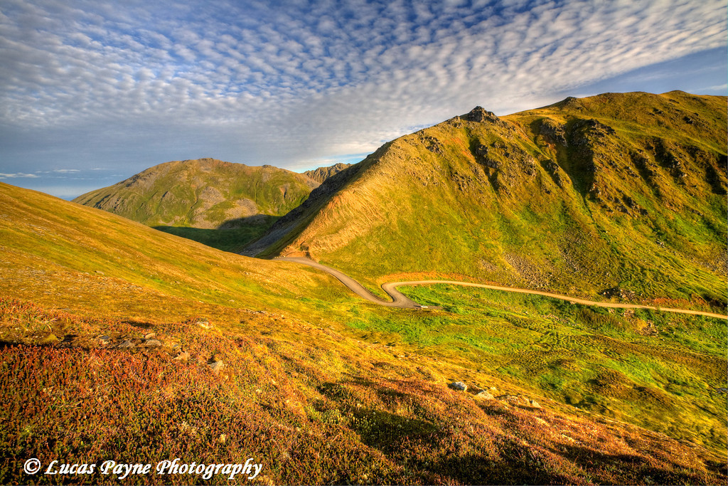 Talkeetna Mountains and the Hatcher Pass Road.<br /> August 12, 2010