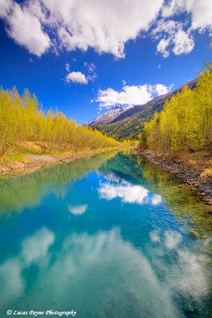 Eklutna Tailrace along the Old Glenn Highway (HDR)<br /> May 15, 2010