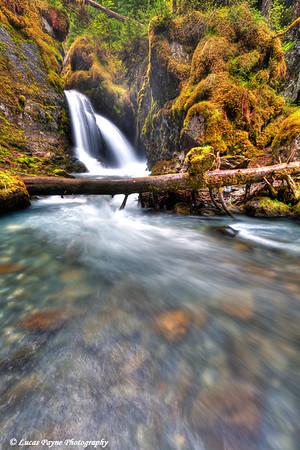 Virgin Creek Falls near Girdwood<br /> June 14, 2011<br /> HDR