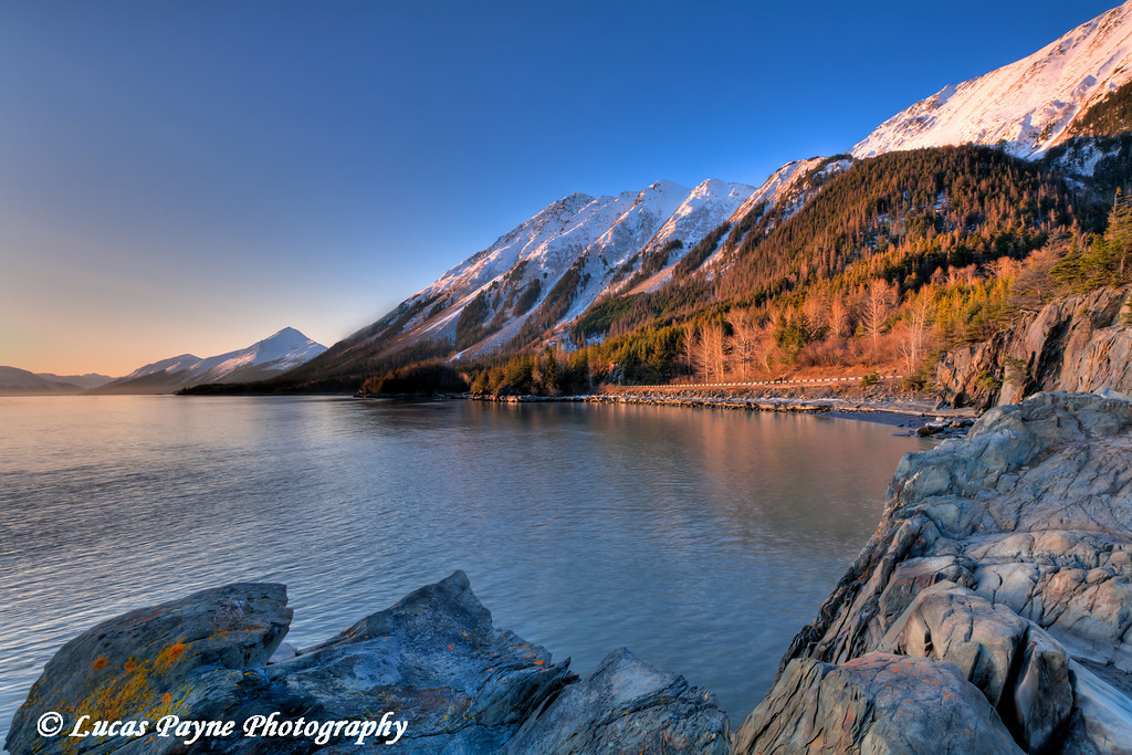 Turnagain Arm shoreline near Hope, Alaska<br /> April 15, 2011<br /> HDR