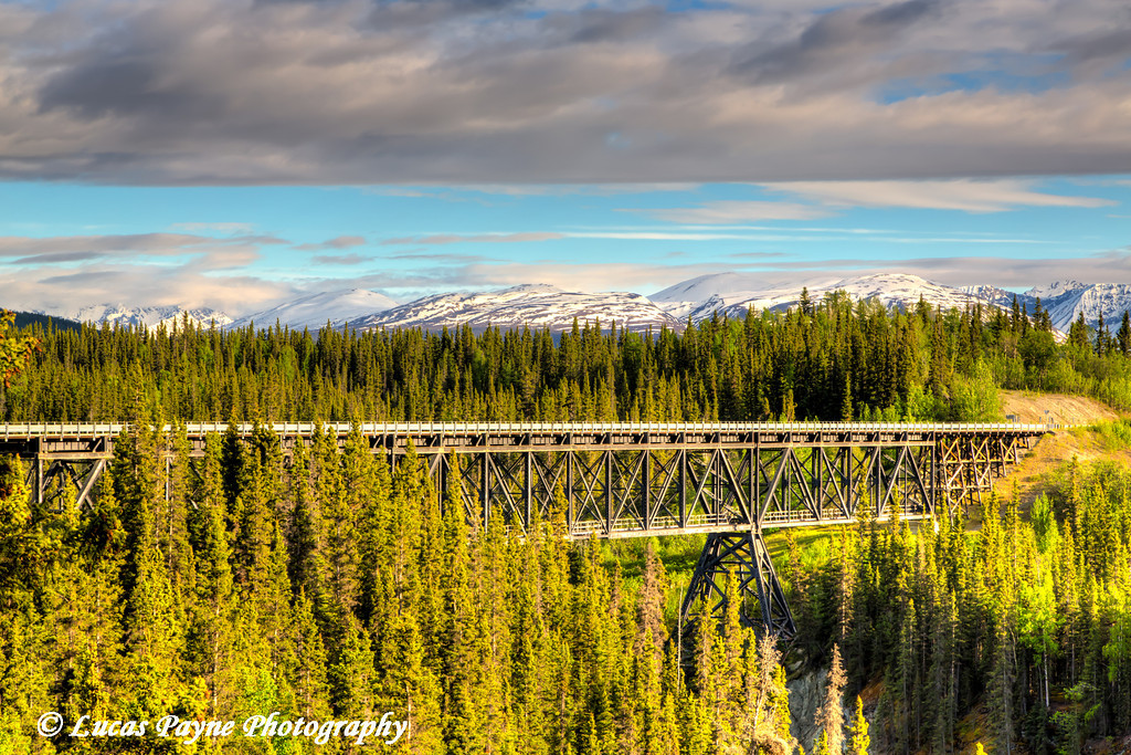 Scenic view of the Kuskulana River Bridge on the McCarthy Road in Wrangell-St. Elias National Park and Preserve<br /> <br /> June 15, 2012