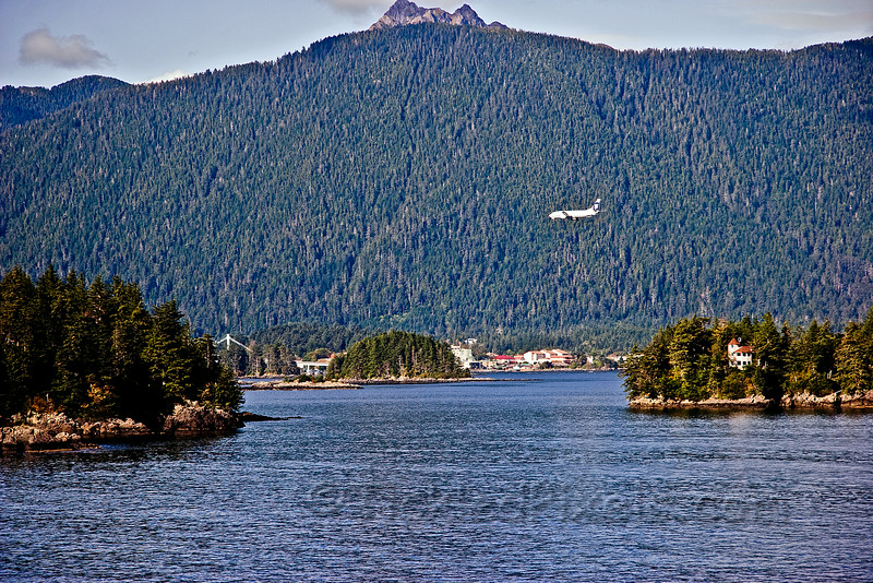 Alaska Airlines on Final Approach into Sitka