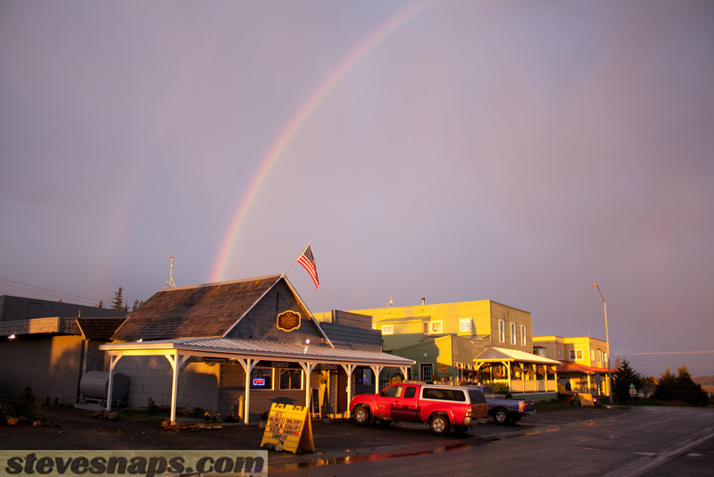 Rainbow over Old Town Homer
