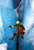Climbing through the crevasses on the Knik Glacier.