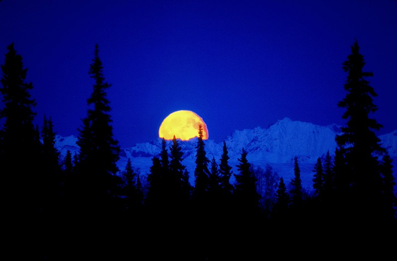 Takosha Mountains moonrise