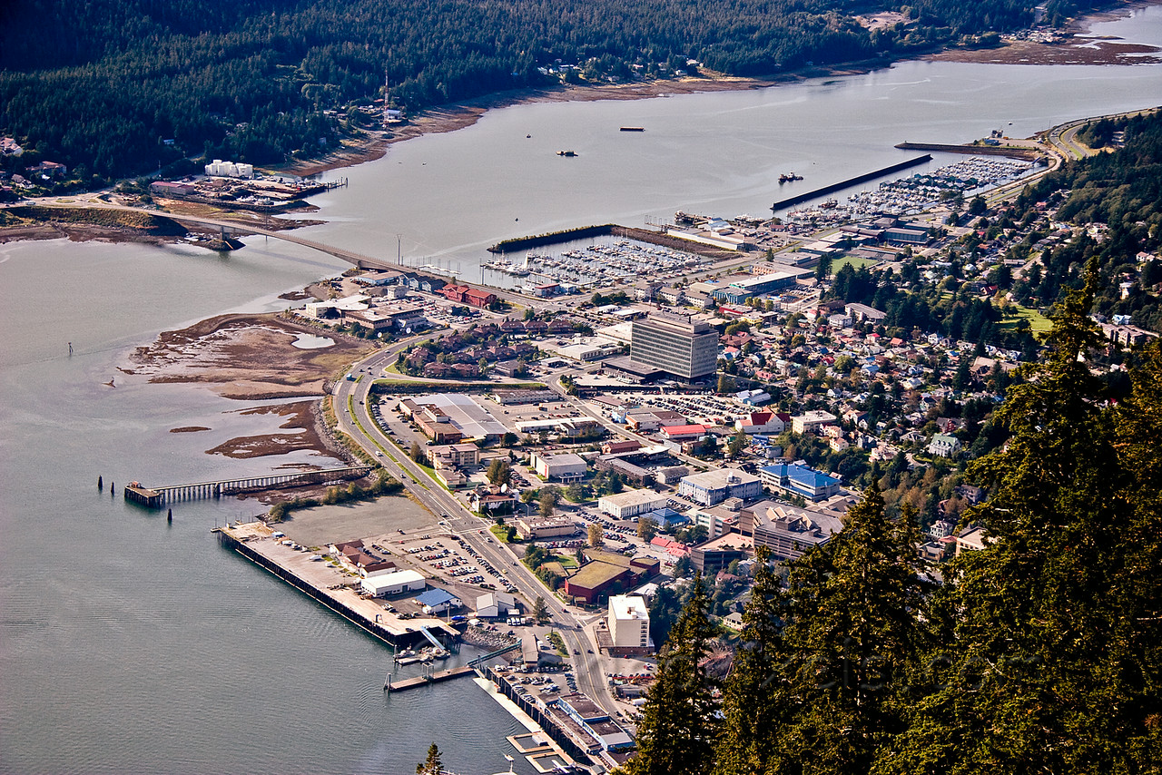 Downtown Juneau from Mount Roberts