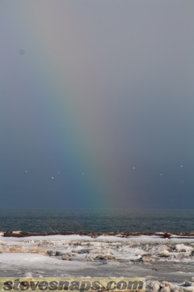 winter rainbow from the Homer spit