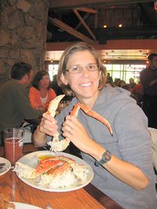 Snow Crab at the Glacier Brewhouse