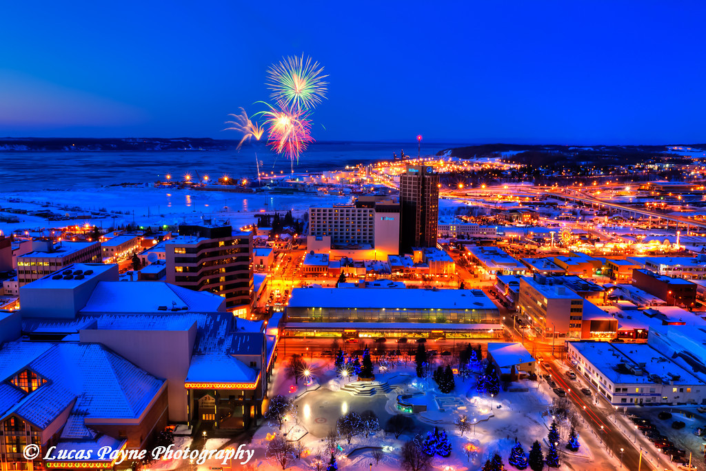 Fur Rondy 2011 Fireworks Anchorage, Alaska <br /> February 26, 2011