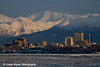 Anchorage, Alaska Skyline and the Chugach Mountains.<br /> December, 11 2008