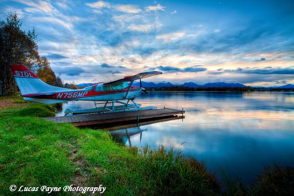 Lake Spenard sunrise. (HDR)<br /> October 04, 2010