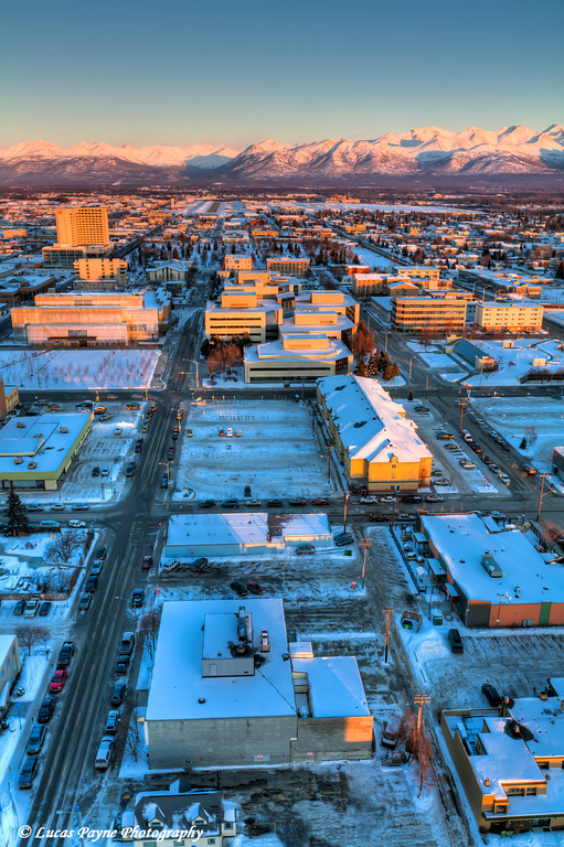 Downtown Anchorage and the Chugach Mountains <br /> (HDR) <br /> February 26, 2011