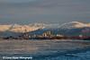 Anchorage, Alaska Skyline and the Chugach Mountains.<br /> December, 11 2008