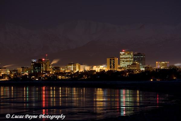 Anchorage City Lights<br /> December 12, 2008