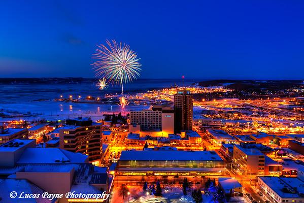 Fur Rondy 2011 Fireworks Anchorage, Alaska <br /> February 26, 2011