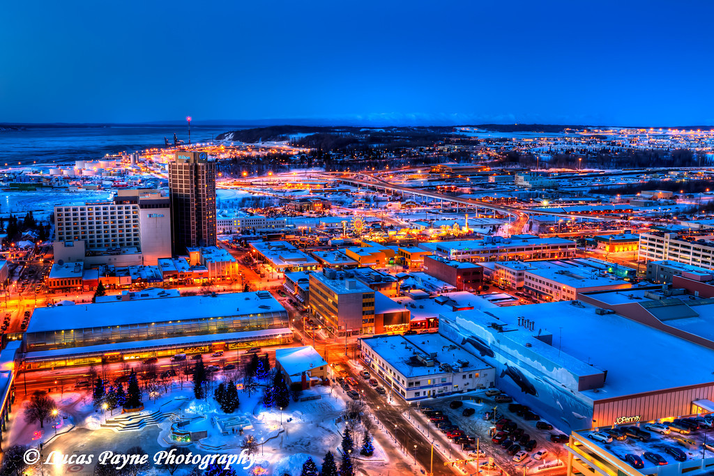 Downtown Anchorage City Lights <br /> (HDR) <br /> February 26, 2011