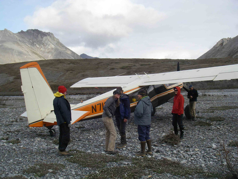 Then we landed on a landing strip that was nothing more than a gravel bar next to the river.