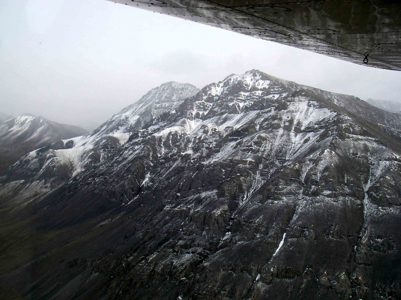 Our first glimpse of the rugged Brooks Range from the plane.