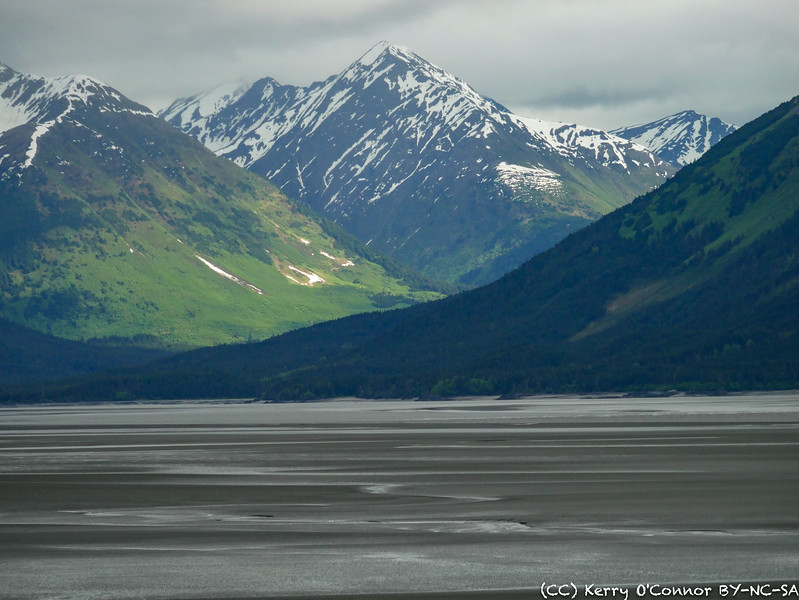 Tidal flats outside of Anchorage