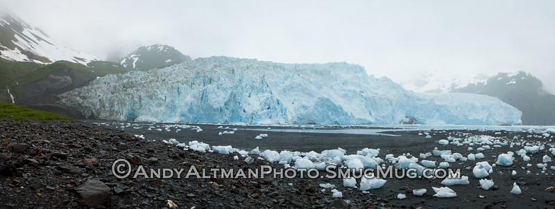 Aialik, Glacier Panorama, Alaska
