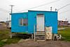 Typical house on stilts in Barrow, Alaska
