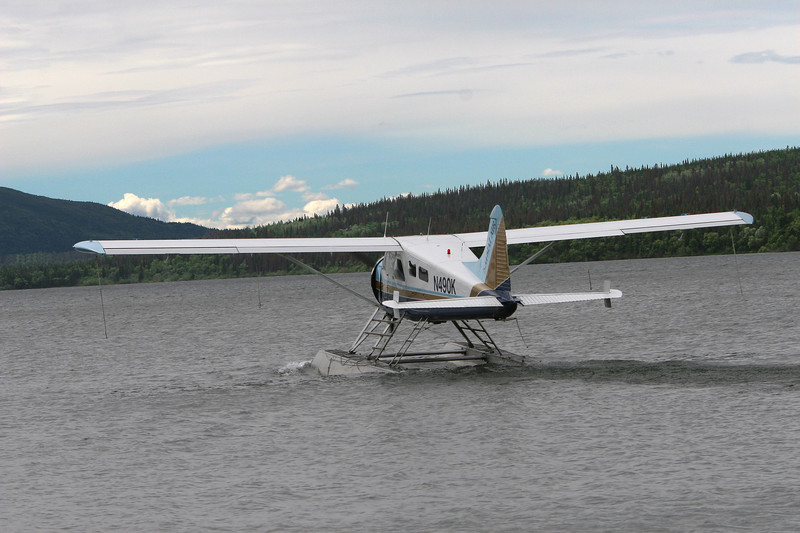 "The float plane that took us from King Salmon to Katami National Park. About a 20 minute flight. I didn't ""white nuckle"" it!"