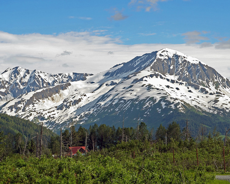 I took this on the way to Homer off the Seward Highway. What a view that house has!