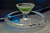 Martini glass made of ice with Appletini inside~Yum!