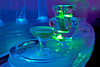 Martini glass made of ice at ice bar~Chena Hot Springs Ice Museum