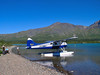 The beaver from Regal Air Service dropped us at the beach near the mouth of the Chilikadrotna River.