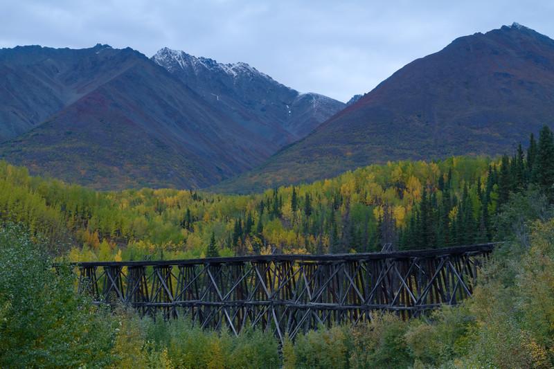 Gilahina RR Trestle, McCarthy Road, Wrangell - St. Elias National Park, Alaska