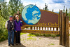 Arctic Circle sign part way up the Dalton Hwy from Fairbanks to Prudhoe Bay ~ with Alan & Judy