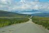 Dalton Hwy with Alaska Pipeline Zig-Zagging along road
