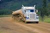 "Huge truck typical of traffic on ""Haul Road"" or Dalton Hwy, Alaska"