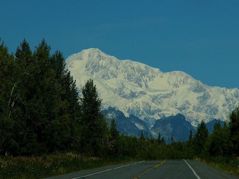 Approaching Denali on the Parks Highway