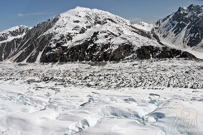 Saddle between Tokositna Glacier