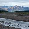 The braided Teklanika River runs behind our campground.