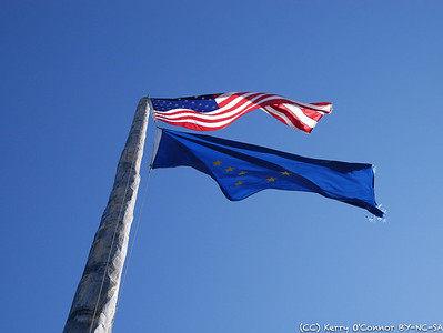 U.S. and Alaskan Flags