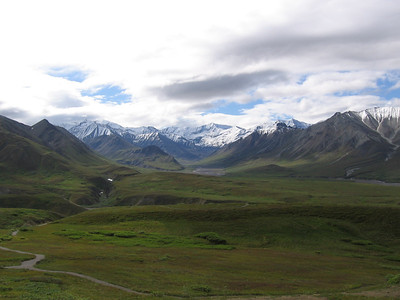 To the left of Denali