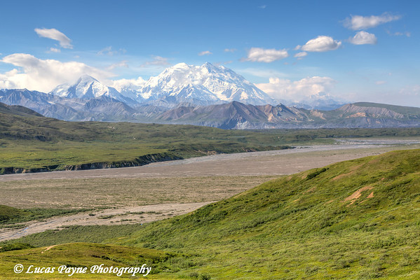 Scenic view of Denali (Mt. McKinley) near Eielson Visitor Center, Denali National Park & Preserve, Interior Alaska.<br /> <br /> August 02, 2013