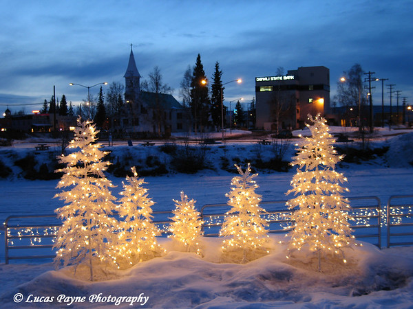 Christmas Lights In Fairbanks, Alaska