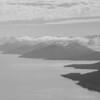 Cochrane Bay (left) and the Tebenkof Glacier