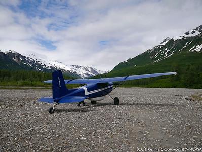 Landed near  LeBlondeau Glacier