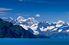 The Fairweather Mountain Range near Bartlett Cove, Alaska, USA.