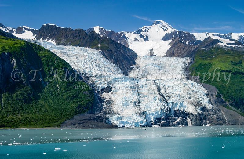 The Bryn Mawr Glacier of College Fjord in Prince William Sound, Alaska, USA.