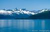 Prince William Sound and the Fairweather Mountain range, Alaska, USA, America.