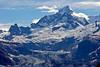 Mountain peak with glacier cascading down ~ Glacier Bay