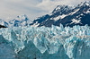 The toe of the tidewater glacier, the Margerie Glacier in Glacier Bay National Park, Alaska, USA, America.
